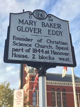 Mary Baker Eddy marker, Wilmington, NC.
