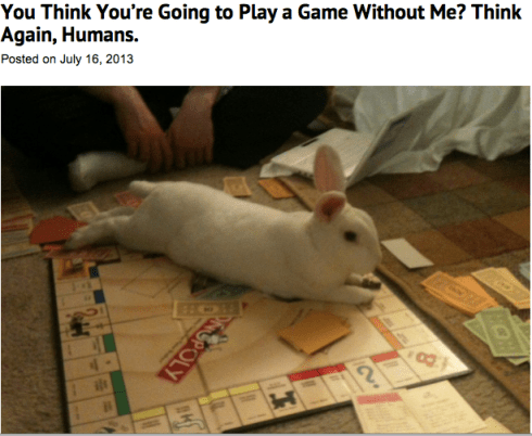 You think you're going to play a game without me? Think again, humans.