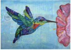 mixed media Hand Crafted Fiery Throated Hummingbird