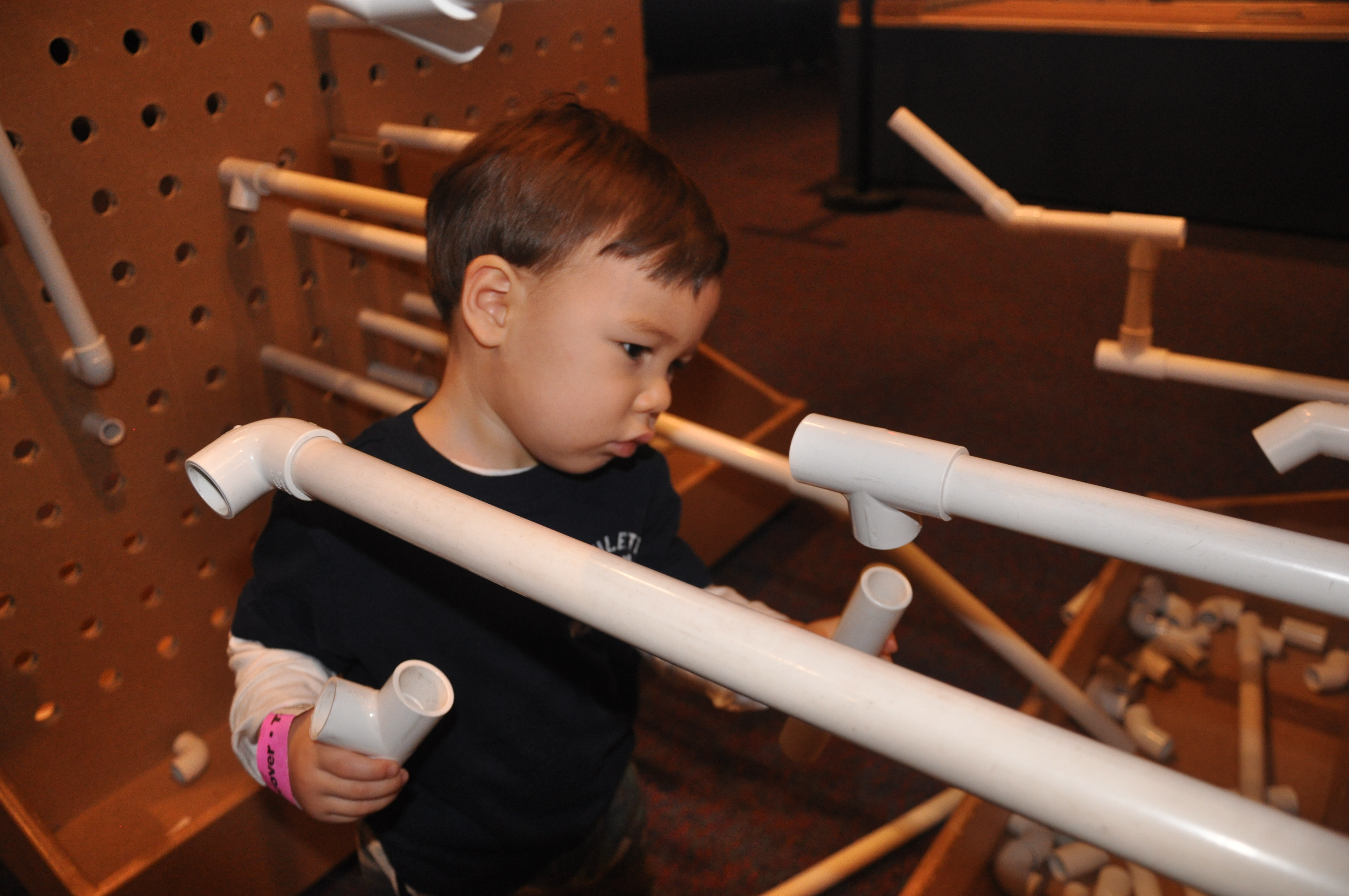 Homemade Toys: PVC Pipe Building