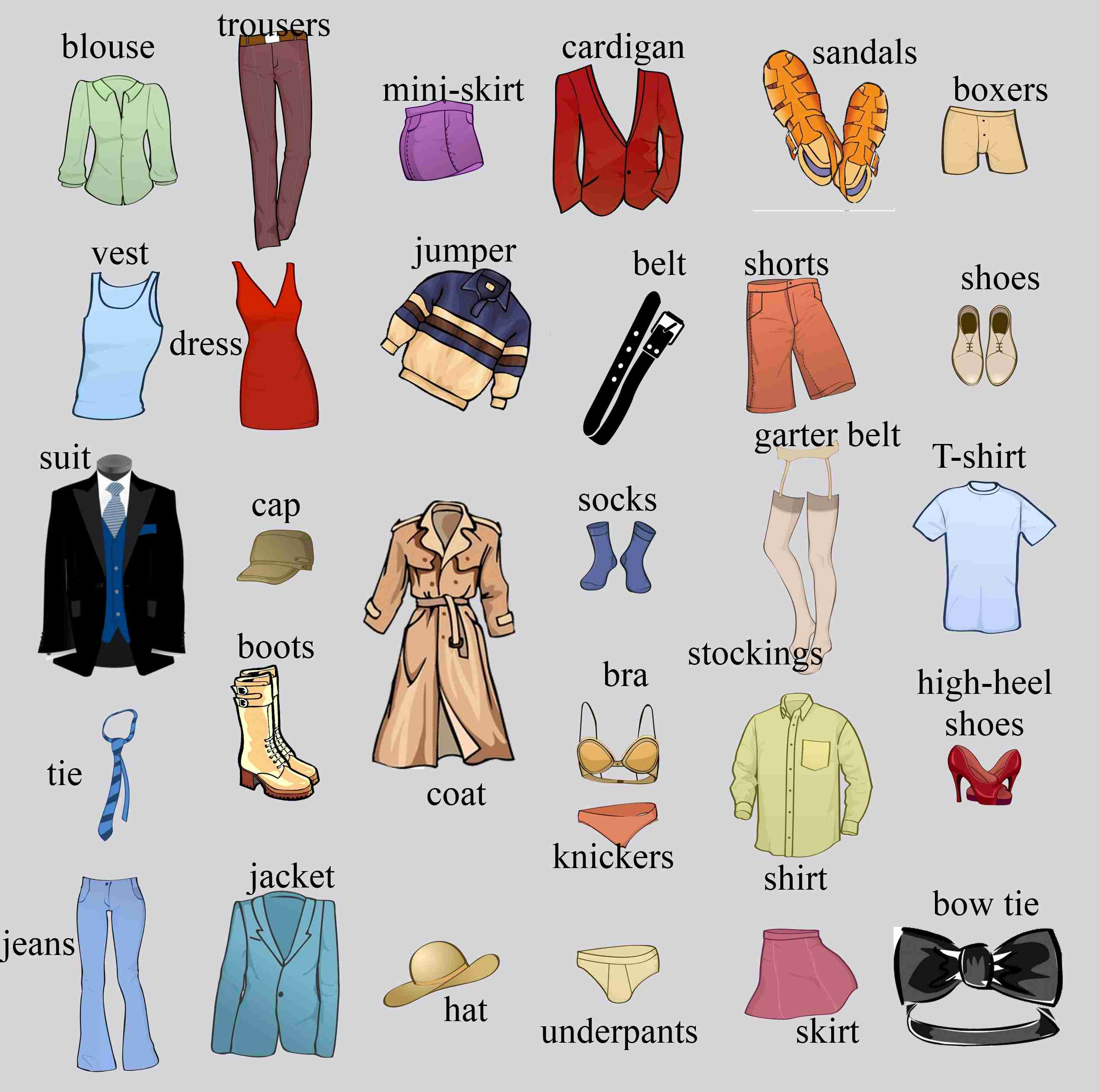 Clothes Vocabulary  Games To Learn English  Games To Learn English