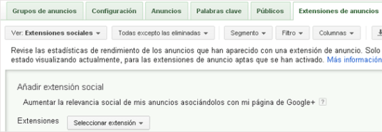 Conecta Adwords con Google Plus