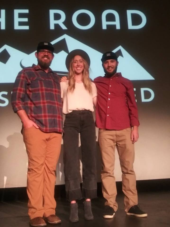 The Road West Traveled co-founders at film premiere (left to right) Grant Robbins, Sara Beam Robbins, Lionello Delpiccolo.