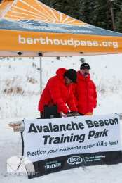 Friends of Berthoud Pass manning the final station.