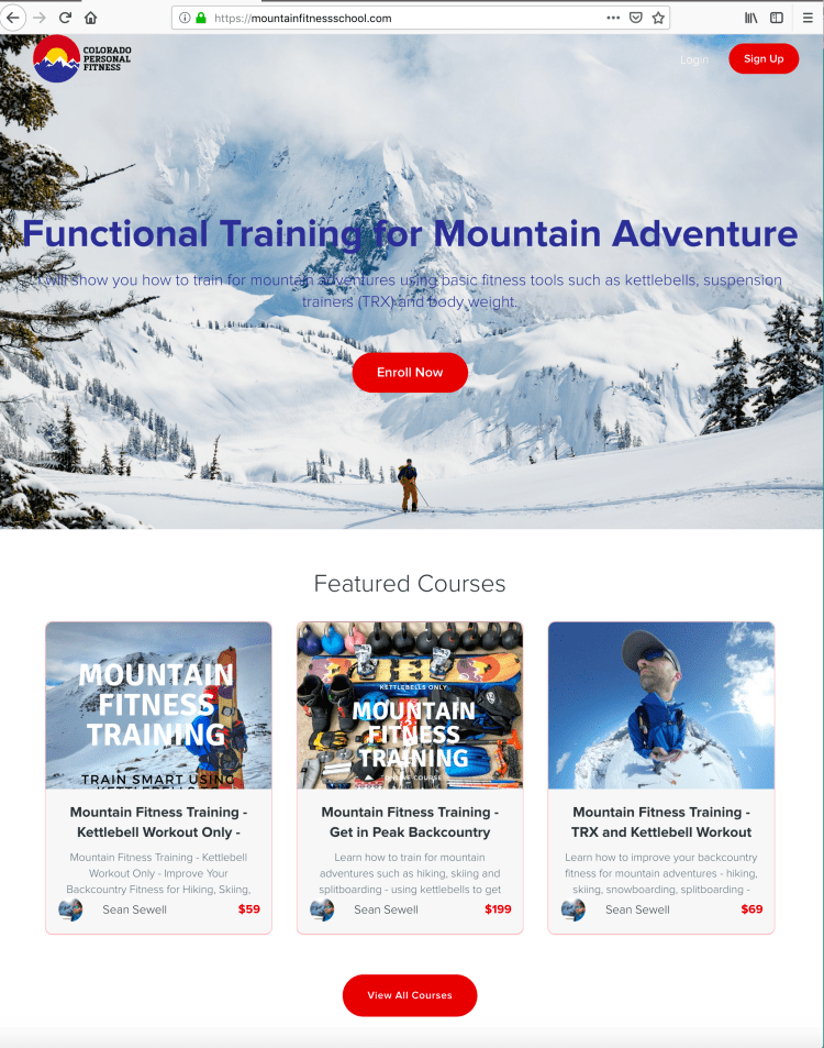 Mountain Fitness School Courses