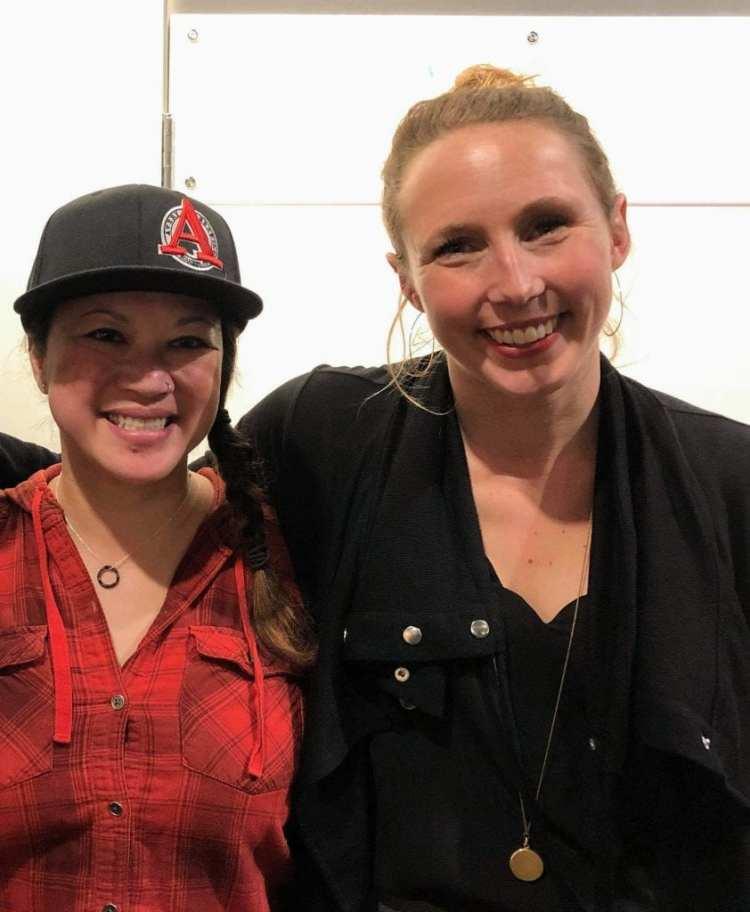 Engearment's Kate Agathon and filmmaker Hilary Byrne