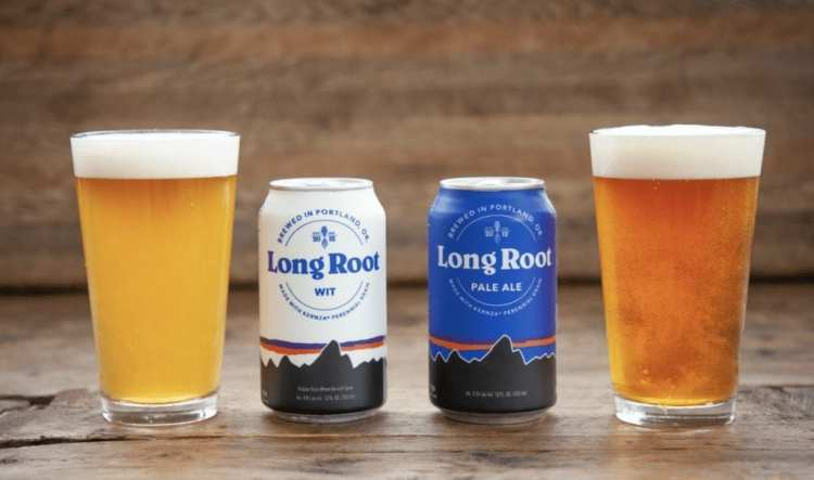 Patagonia Provisions Long Root Beers in a glass