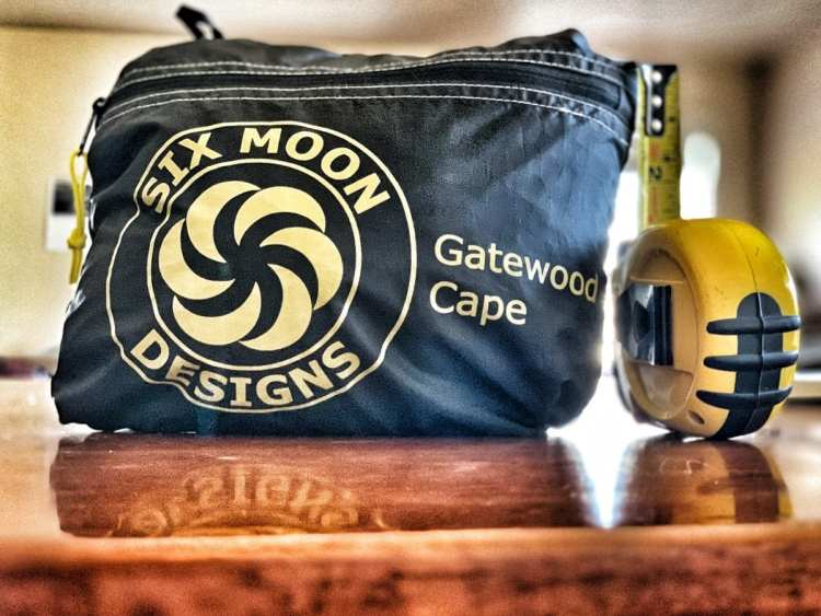 Six Moon Designs Gatewood Cape packed up