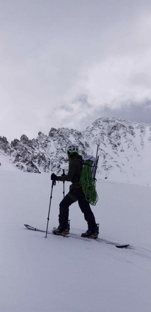 Will in the alpine. Literally