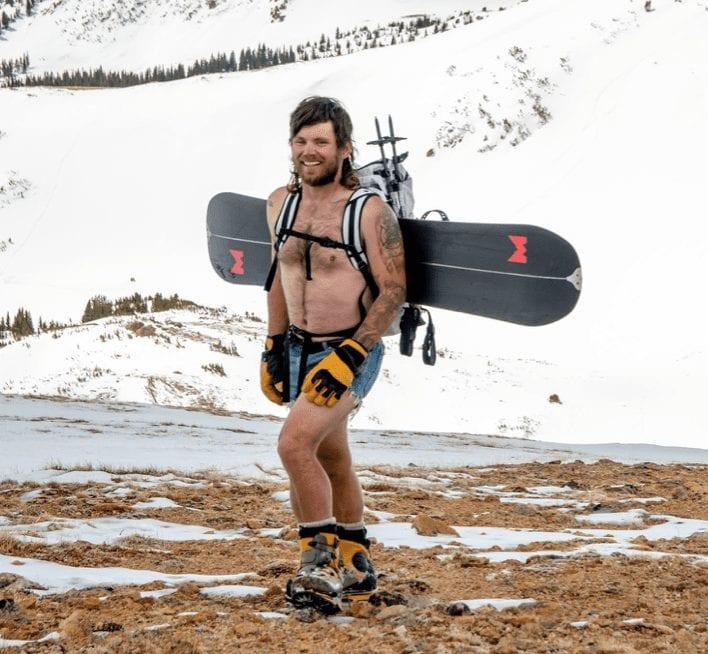 Will Coleman - Alpine Jorts, splitboard, MH Scrambler pack