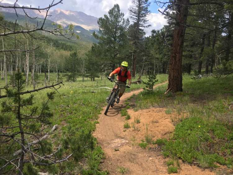 Kitsbow shorts. Mountain biking on pikes peak 27 miles.