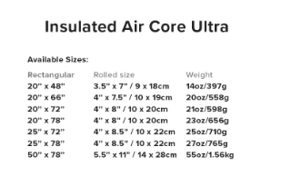 Big Agnes insulated air core ultra