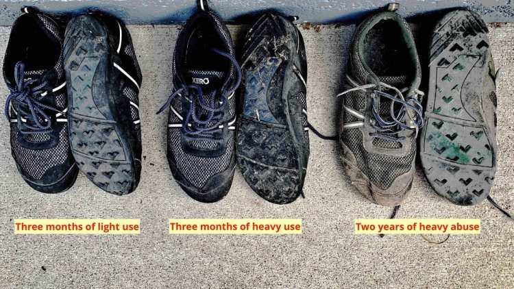 minimalist shoes How the Terraflex wears.