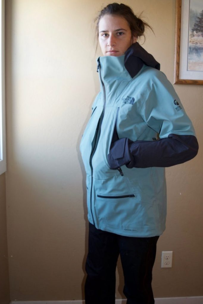 The North Face Women's Purist FUTURELIGHT Jacket Two extra large breast pockets.