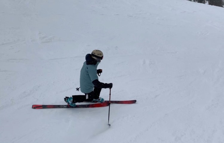 Bishop BMF/R Telemark Touring Binding review Engearment Testing the spring resistance