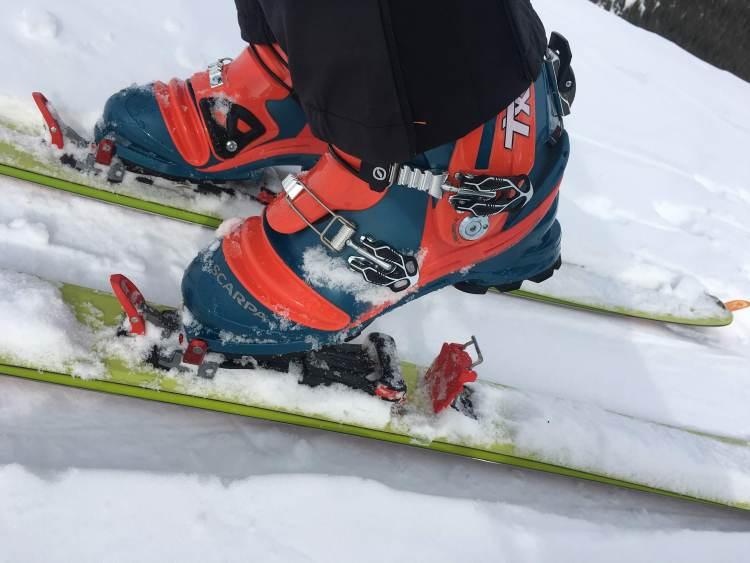 M Equipment Meidjo 2.1 Telemark Binding Review Engearment heel risers