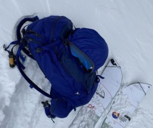 Patagonia SnowDrifter Pack 30L Review helmet carry system