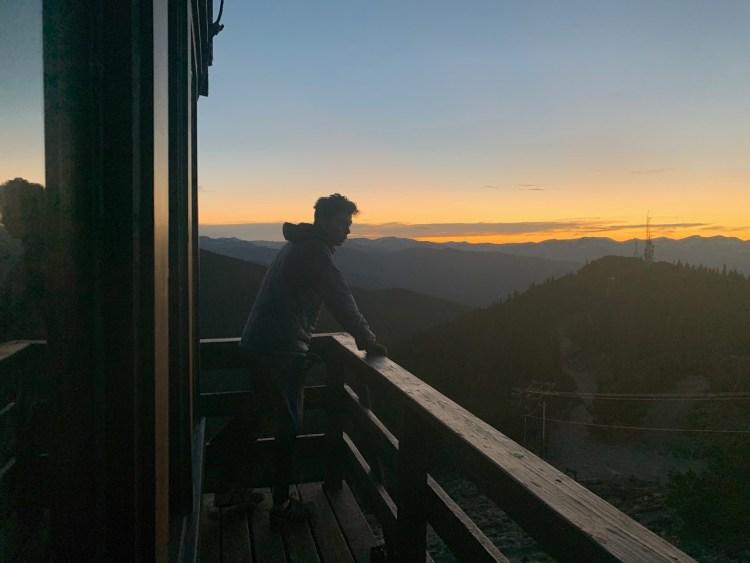 Cai Rickards appreciating the views