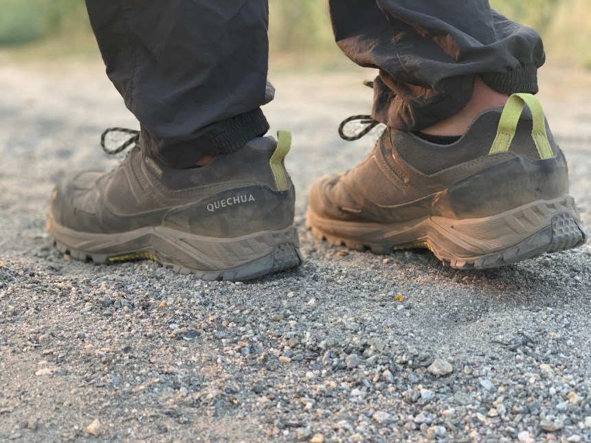 The Decathlon Quechua MH 500 Hiking Shoes are sturdy and eat up the miles.