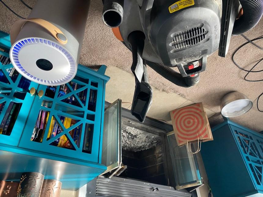 Molekule Air on chimney clean up duty