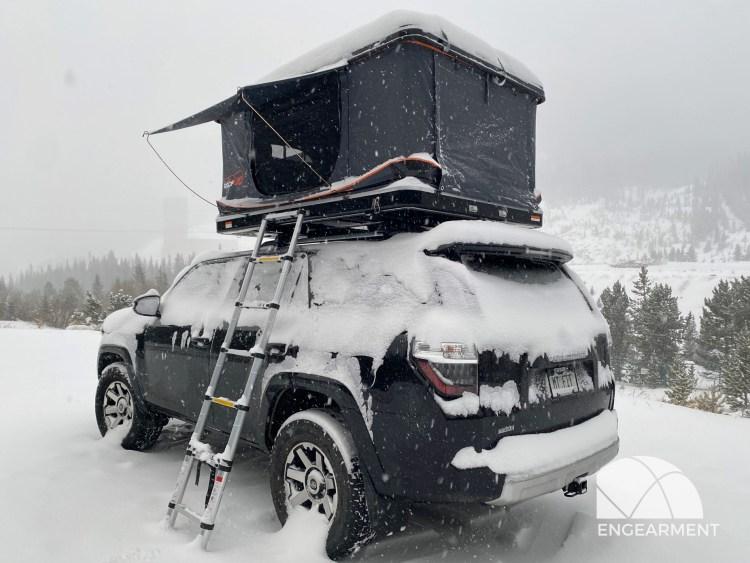 Roofnest Sparrow XL in the snow