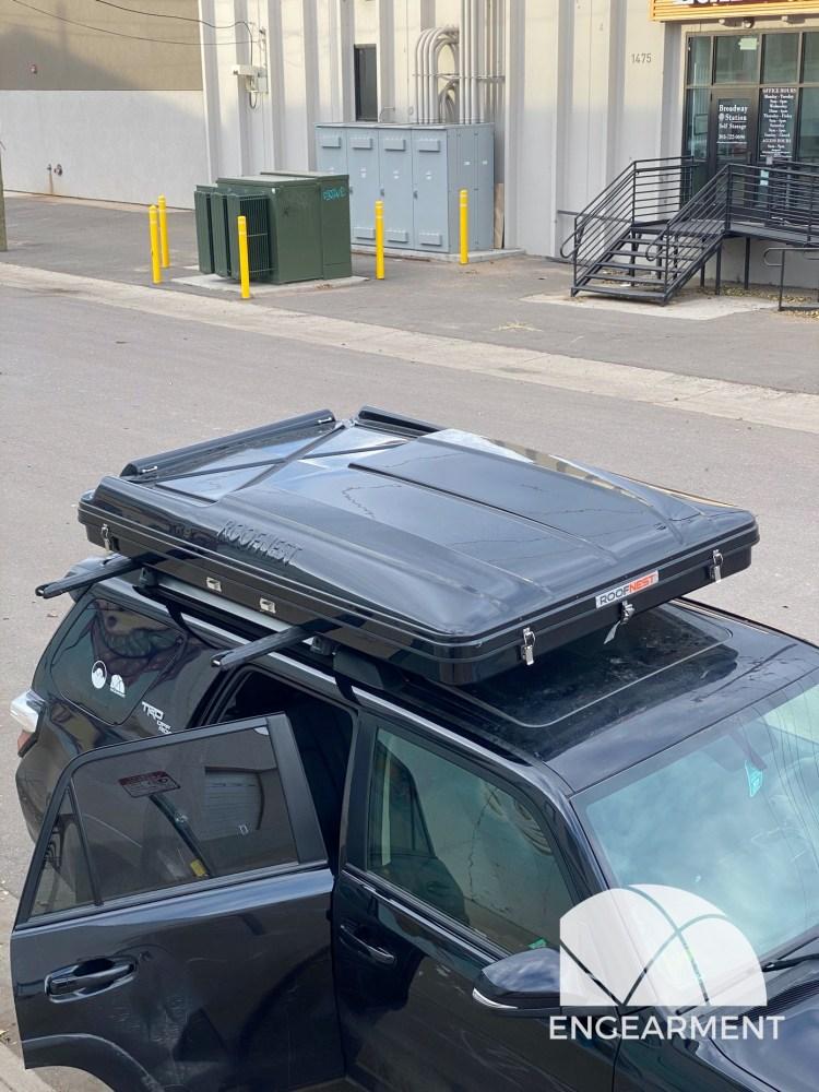 Roofnest Sparrow cargo area and solar area