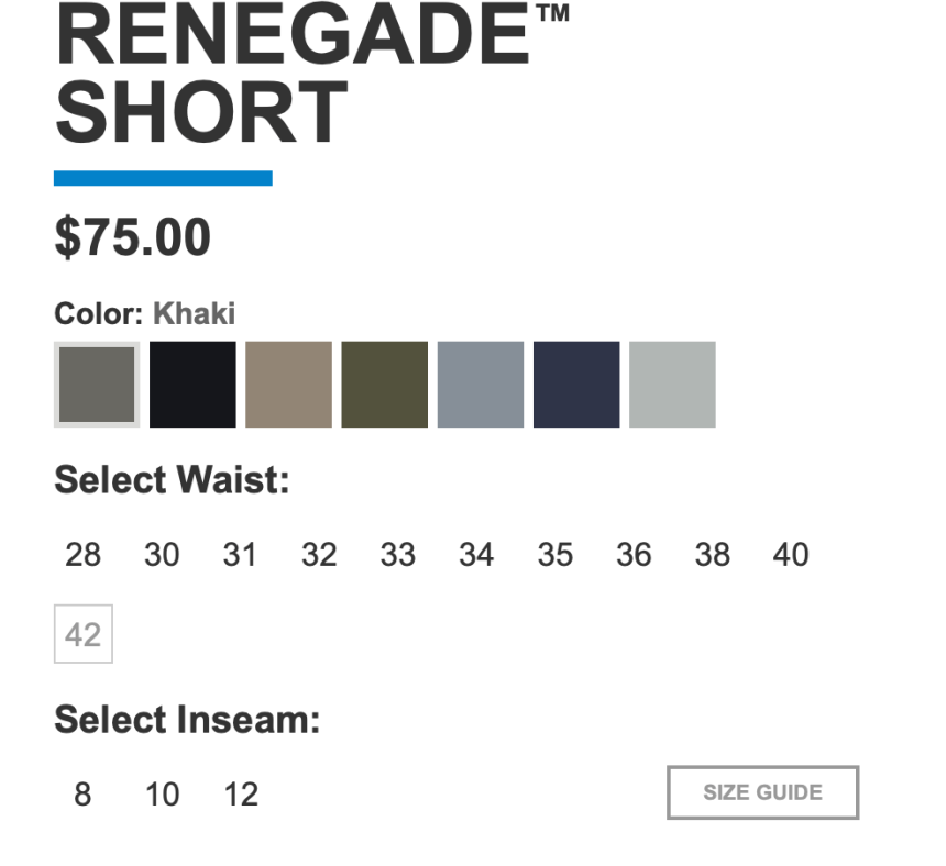 Kuhl Renegade Shorts