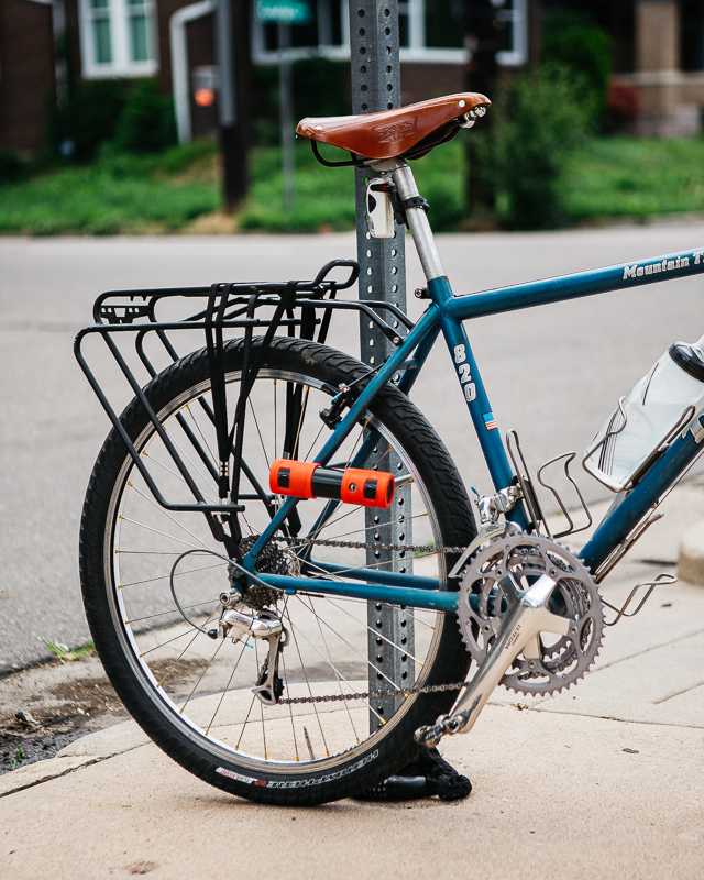 Using the ABUS 440A to lock up my Trek 820 to a stop sign - James Terry - Engearment