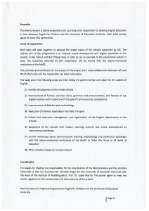 Memorandum of Understanding between the foundation Angels for Children and the University of Education Karlsruhe p.2