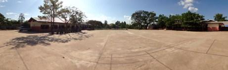 Panorama Blick über den Hof