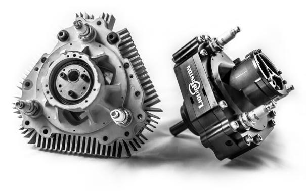 X Mini 70cc motor a gasolina de 4 tempos - Liquid Piston Inc