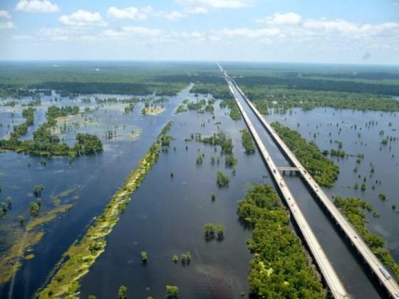 36 km Manchac Swamp Bridge, Louisiana