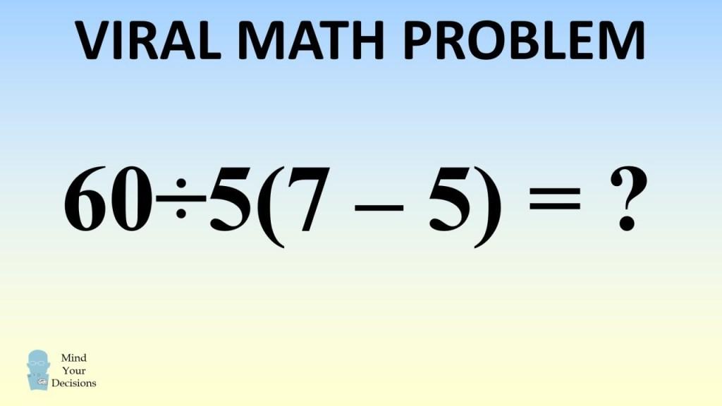 problemas matemáticos que dividiram a internet