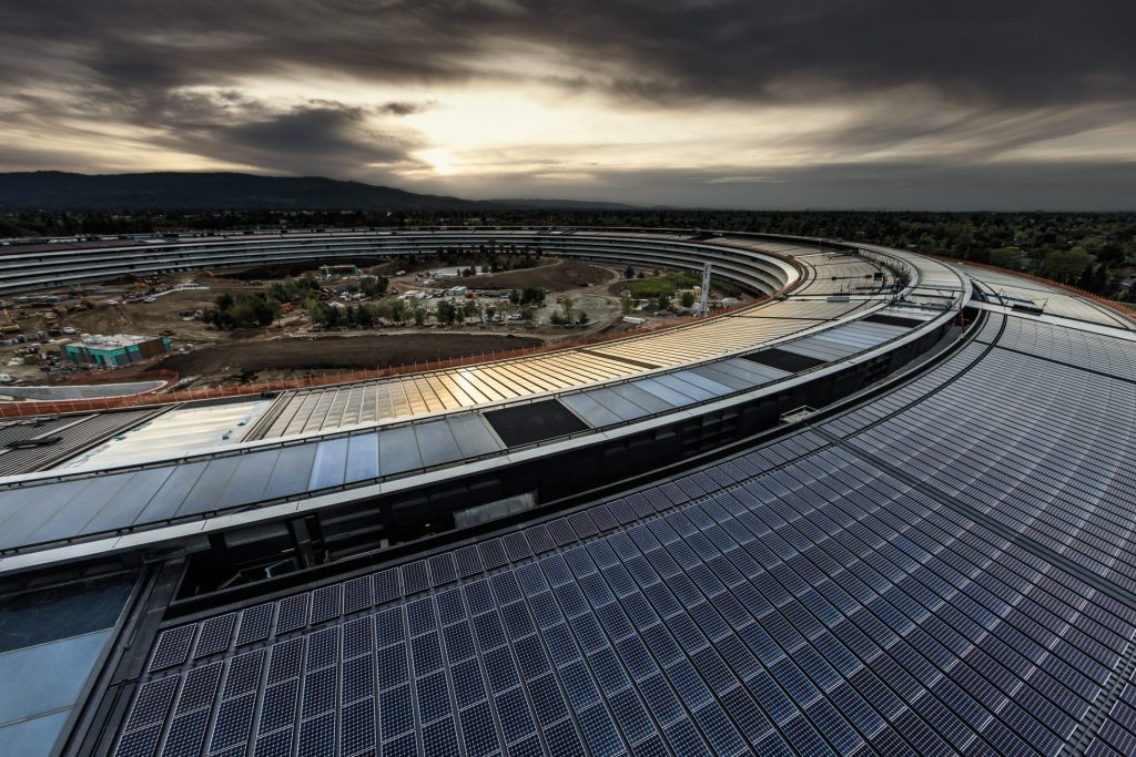 Apple Park paineis solares