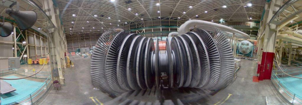 turbina de usina nuclear