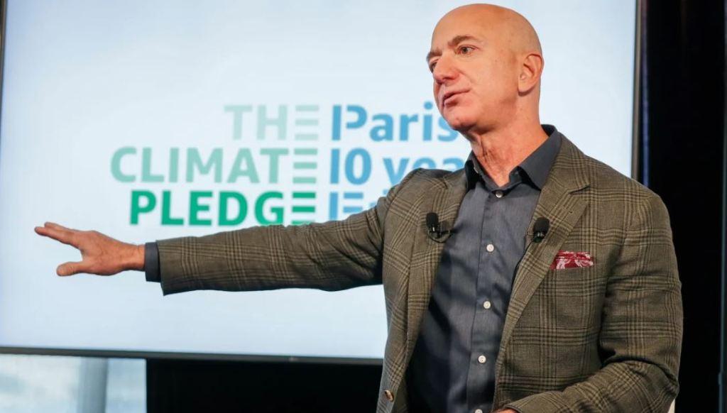 Jeff Bezos no Paris Climate Agreement Engenharia 360