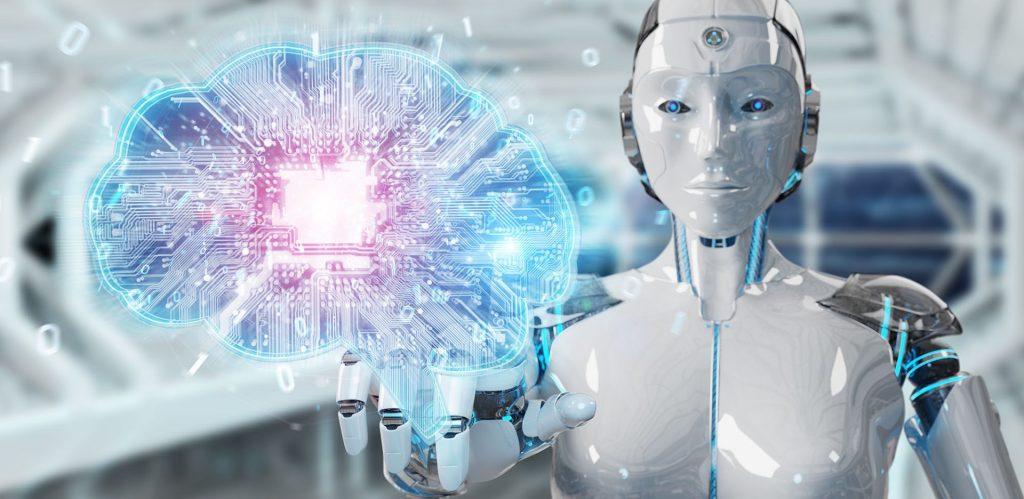 imagem de robô inteligencia artificial