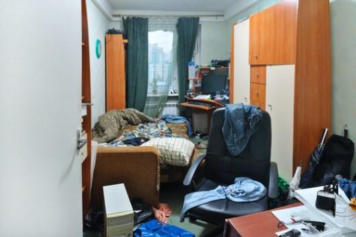 Ambiente de estudo bagunçado
