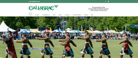 Gallabrae | Events & Entertainment Web Design Greenville SC