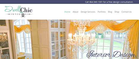 Dwell Chic Interiors | Construction & Residential Web Design Greenville SC