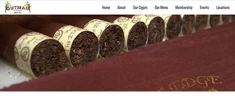 Outman Cigars | Food & Restaurants Web Design Greenville SC