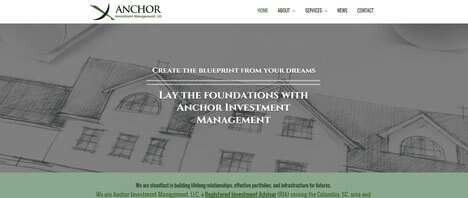 Anchor Investment Management | Financial & B2B Services Web Design Greenville SC