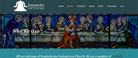 Fountain Inn Presbyterian Church | Religious Web Design Greenville SC