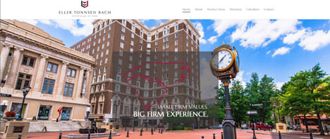 Eller Tonnsen Bach Law Firm | Financial & B2B Services Web Design Greenville SC