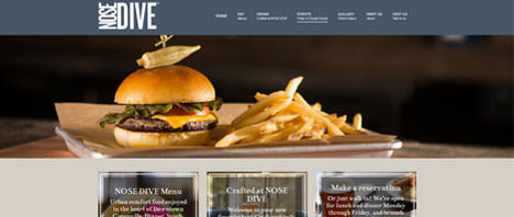 Nose Dive | Food & Restaurants Web Design Greenville SC
