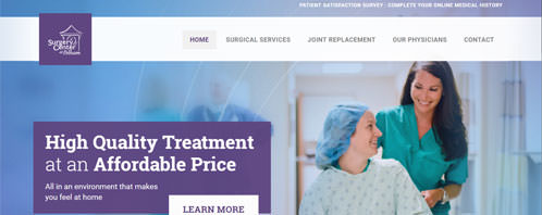 Surgery Center at Pelham | Medical Web Design Greenville SC