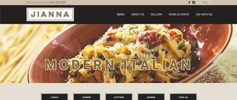 Jianna Greenville | Food & Restaurants Web Design Greenville SC