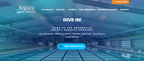 Greenville County Aquatics Complex | Recreation Web Design Greenville SC