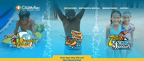 Greenville County Rec Water Parks | Recreation Web Design Greenville SC