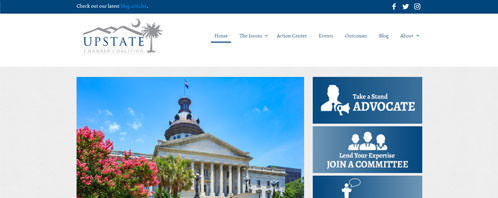 Upstate Chamber Coalition | Nonprofits Web Design Greenville SC